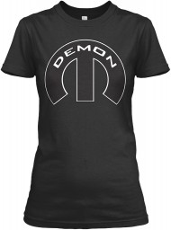 Demon Mopar M Black Gildan Women's Relaxed Tee $21.99