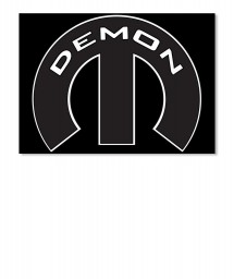 Demon Mopar M Landscape Sticker $6.00