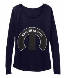 Desoto Mopar M Midnight  Women's  Flowy Long Sleeve Tee $43.99