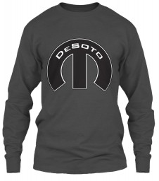 Desoto Mopar M Charcoal Gildan 6.1oz Long Sleeve Tee $25.99