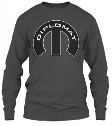 Diplomat Mopar M Charcoal Gildan 6.1oz Long Sleeve Tee $25.99