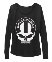 Dodge Challenger Mopar Skull BELLA+CANVAS Women's  Flowy Long Sleeve Tee