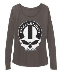 Dodge Challenger Mopar Skull Dark Grey Heather BELLA+CANVAS Women's  Flowy Long Sleeve Tee $43.99