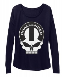 Dodge Challenger Mopar Skull Midnight  Women's  Flowy Long Sleeve Tee $43.99