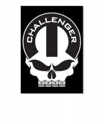 Dodge Challenger Mopar Skull Portrait Sticker $6.00