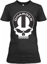 Dodge Charger Mopar Skull Black Gildan Women's Relaxed Tee $21.99