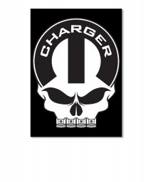 Dodge Charger Mopar Skull Portrait Sticker $6.00