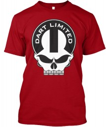 Dodge Dart Limited Mopar Skull Deep Red Hanes Tagless Tee $21.99