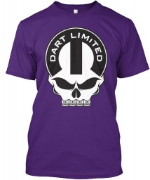 Dodge Dart Limited Mopar Skull Purple Hanes Tagless Tee $21.99