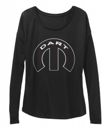 Dodge Dart Mopar M Black  Women's  Flowy Long Sleeve Tee $43.99