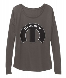 Dodge Dart Mopar M Dark Grey Heather BELLA+CANVAS Women's  Flowy Long Sleeve Tee $43.99