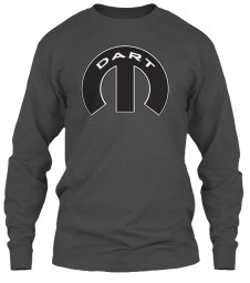 Dodge Dart Mopar M Charcoal Gildan 6.1oz Long Sleeve Tee $25.99
