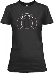 Dodge Dart Mopar M Black Gildan Women's Relaxed Tee $21.99
