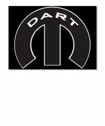 Dodge Dart Mopar M Sticker