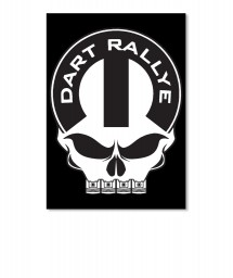 Dodge Dart Rallye Mopar Skull Portrait Sticker $6.00