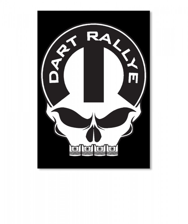 Dodge Dart Rallye Mopar Skull Portrait Sticker