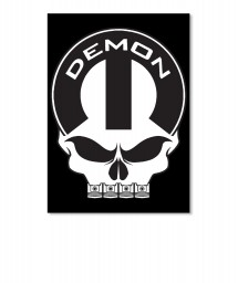 Dodge Demon Mopar Skull Sticker