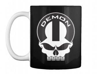 Dodge Demon Mopar Skull Black Teespring Mug $14.99