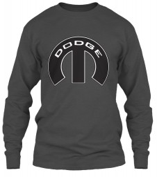 Dodge Mopar M Charcoal Gildan 6.1oz Long Sleeve Tee $25.99