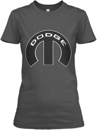 Dodge Mopar M Charcoal Gildan Women's Relaxed Tee $21.99