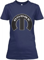 Dodge Mopar M Navy Gildan Women's Relaxed Tee $21.99