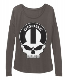 Dodge Mopar Skull BELLA+CANVAS Women's  Flowy Long Sleeve Tee