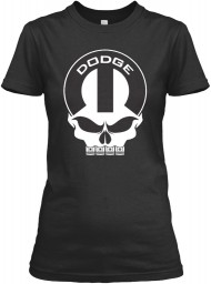 Dodge Mopar Skull Black Gildan Women's Relaxed Tee $21.99