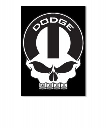 Dodge Mopar Skull Portrait Sticker $6.00