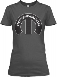 Dodge Power Wagon Mopar M Charcoal Gildan Women's Relaxed Tee $21.99