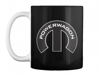 Dodge Power Wagon Mopar M Black Teespring Mug $14.99