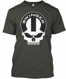 Dodge Swinger Mopar Skull Smoke Gray Hanes Tagless Tee $21.99