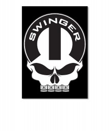 Dodge Swinger Mopar Skull Portrait Sticker $6.00