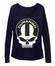 Durango Mopar Skull Midnight  Women's  Flowy Long Sleeve Tee $43.99