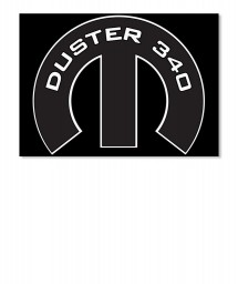 Duster 340 Mopar M Sticker