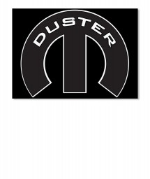 Duster Mopar M Landscape Sticker $6.00