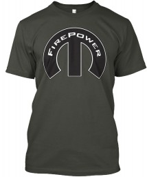 FirePower Mopar M Smoke Gray Hanes Tagless Tee $21.99