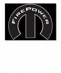 FirePower Mopar M Landscape Sticker $6.00