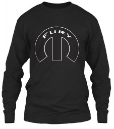 Fury Mopar M Black Gildan 6.1oz Long Sleeve Tee $25.99