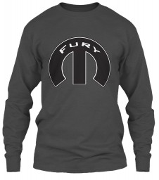 Fury Mopar M Charcoal Gildan 6.1oz Long Sleeve Tee $25.99
