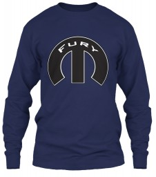 Fury Mopar M Navy Gildan 6.1oz Long Sleeve Tee $25.99