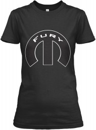 Fury Mopar M Black Gildan Women's Relaxed Tee $21.99