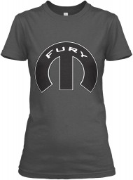 Fury Mopar M Charcoal Gildan Women's Relaxed Tee $21.99