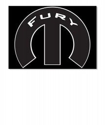 Fury Mopar M Landscape Sticker $6.00