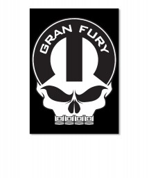 Gran Fury Mopar Skull Portrait Sticker $6.00