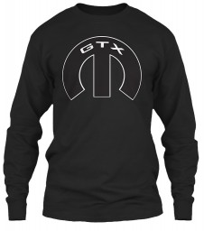 GTX Mopar M Black Gildan 6.1oz Long Sleeve Tee $25.99