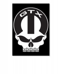 GTX Mopar Skull Portrait Sticker $6.00