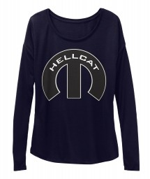 Hellcat  Mopar M Midnight  Women's  Flowy Long Sleeve Tee $43.99
