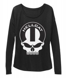 Hellcat Mopar Skull Black  Women's  Flowy Long Sleeve Tee $43.99