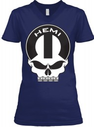 Hemi Mopar Skull BELLA+CANVAS Women's V-Neck Tee