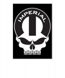 Imperial Mopar Skull Portrait Sticker $6.00